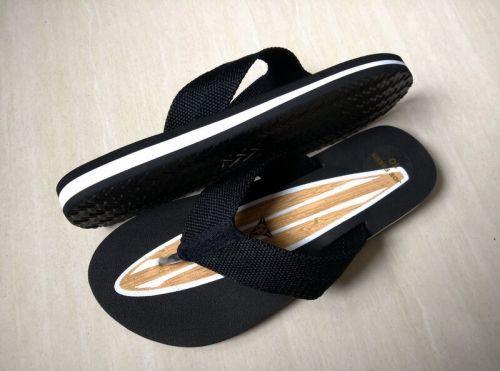 Oceans slipper black met surfboard (uit voorraad leverb.)