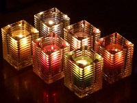 glazen houder voor kaarsen refills