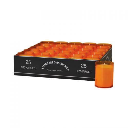 Refills tray 25 stuks oranje