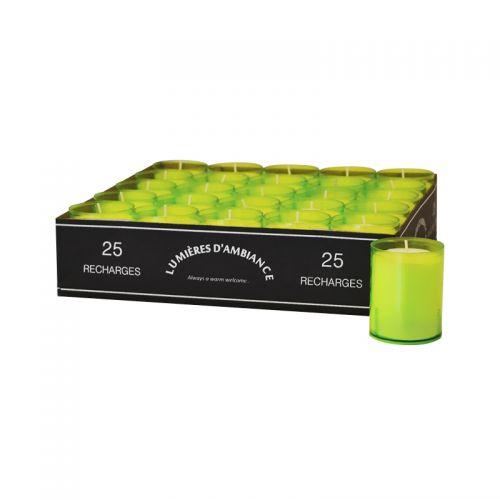Refills tray 25 stuks lime